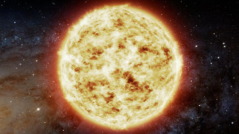 The Sun in space. Milky Way galaxy. Elements of this image furnished by NASA Animation