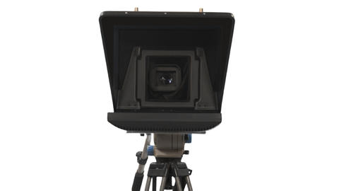 Close-up view of a teleprompter, Full HD shot with alpha channel ビデオ