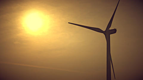 Wind Generator sunset ビデオ