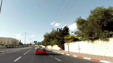 Driving in Jerusalem, Israel Footage