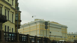 Views from the canals in St. Petersburg Russia Footage