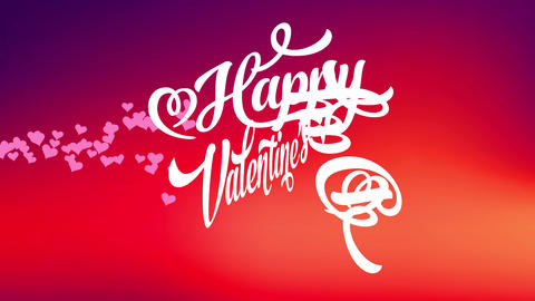 curly font typography with cheerful valentines day written in white over background with unique Animation