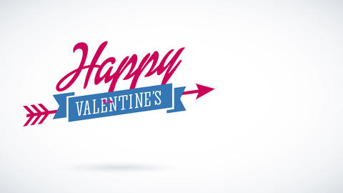 laughing valentines day script putting one word up the other changing colour and in the middle a Animation