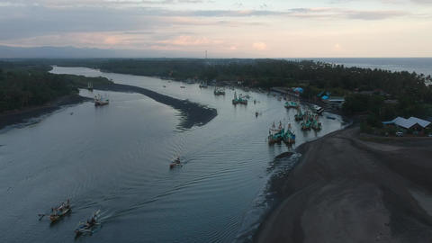 Prancak Perancak west bali many traditional big and small Balinese boats in the Live Action