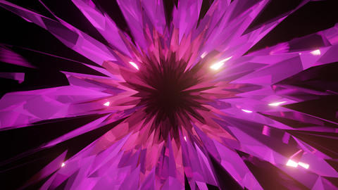 Purple Crystal Cave or Glass Cave Motion Background in Dolly Style Animation