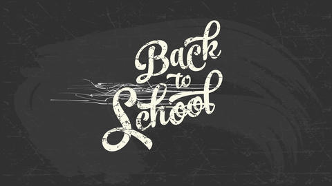 back towards education script concept art handling cool typography written with white chalk on a Animation