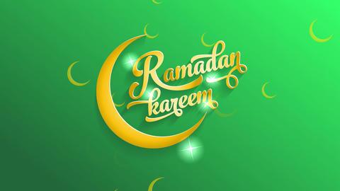 ramadan kareem vacation reception card with yellow calligraphy offset with stars illuminating parts Animation