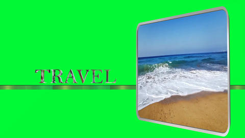 687 4k 3d animated concept logo of travel on green sceen Animation