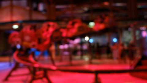 blurred roller coaster background of defocused amusement park bokeh luna park Live Action