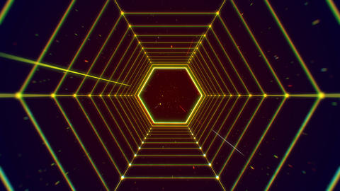Futuristic tunnel hexagon shape structure abstract background Photo