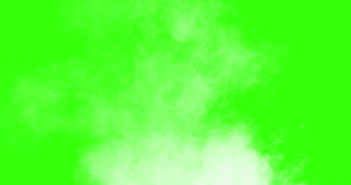 vertical blowing steam with white smoke isolated on chroma key green screen background, with Live Action