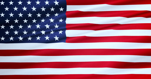 closeup of american USA flag, stars and stripes, united Live Action