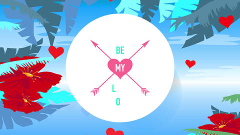 be my romance written in the central of dual arrows crossed internal size heart including single Animation