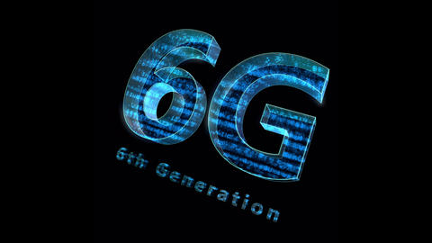 6G Digital Network technology 6th generation mobile communication concepts Background 0 N1 blue 4k Animation