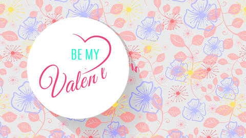 valentines day script concept art with silky petal artwork on background and words indoor heart Animation