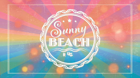 summertime shore wave club handling antique offset and colors on background with text written Animation