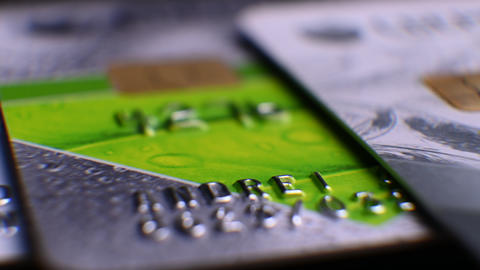 macro bank cards. finance and business. E-commerce. credit cards Live Action