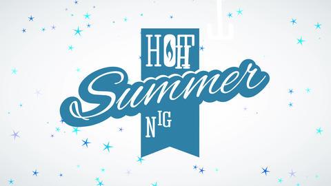 summer sundown written interior vertical medal with modern handwriting typography and blaze indoor Animation