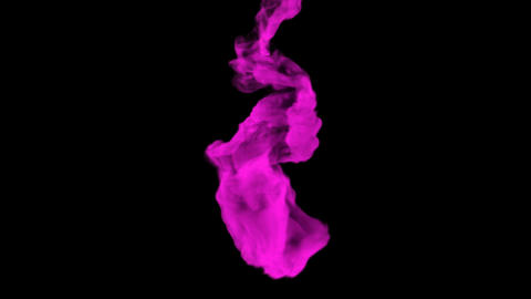 Purple substance is dissolving in a dark liquid, 3D animation with alpha mask Animation