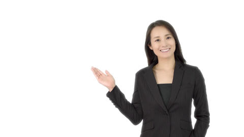 Japanese business woman welcomes 2 Live Action