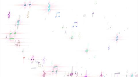 音符が作るハートマーク heart mark a note makes CG動画