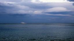 passenger ship floating on sea Footage