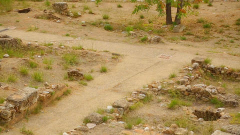 Archaeological discoveries, ancient city ruins at open air museum for tourists Footage