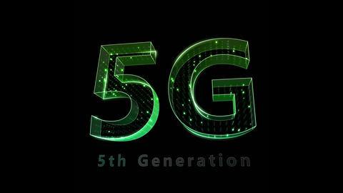 5G Digital Network technology 5th generation mobile communication concepts Background 0 F2 green 4k Animation