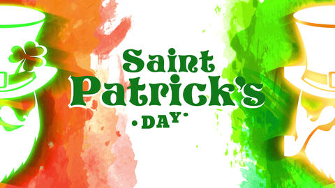 real st patricks day concept for vacation progress with both elf multicoloured with green and orange Animation