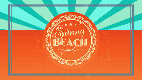 summer beach surf club written inside woven like circle graphic using vintage calligraphy typography Animation