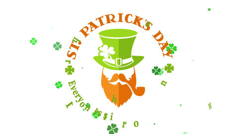 archangel patricks day promotional advert with celtic fancy lettering written around english dwarf Animation