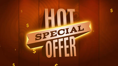 warm special offer trading for products on high desire or commercial business using impressive Animation