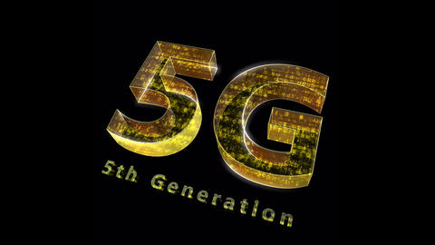 5G Digital Network technology 5th generation mobile communication concepts Background 0 N1 red 4k Animation