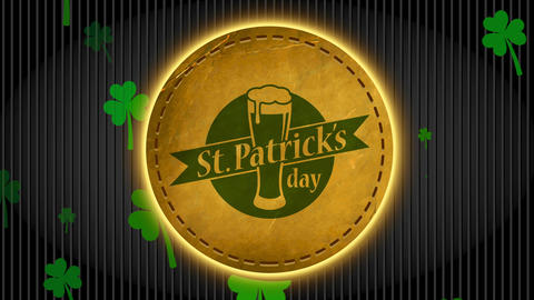 st patrick day commercial dream for bar with lettering written around beer drawn on rounded suede Animation