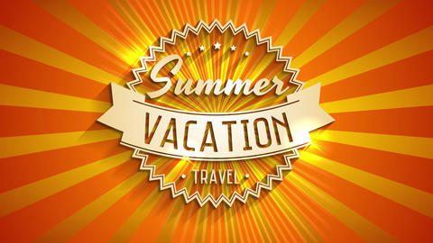 summer vacation tour written with 3d typography on sunlight background crafted for visitor agency or Animation