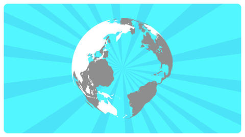 Rotate globe&Rotate line_blue CG動画