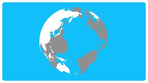 Rotate globe Videos animados