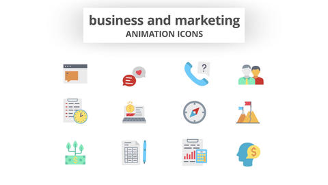 Business & Marketing - Animation Icons After Effects Template