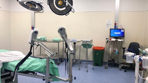 Panorama of the operating room before the operation Live Action
