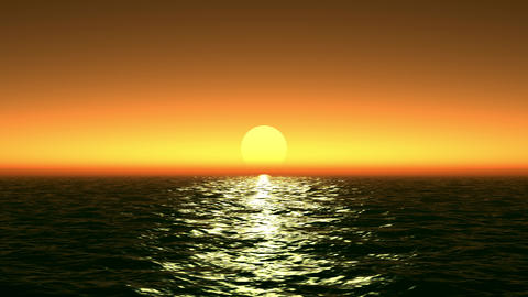 Beautiful sunset over the sea Animation