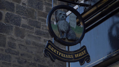 Famous Greyfriars Bobby in Edinburgh Scotland - EDINBURGH, SCOTLAND - JANUARY 10 Live Action