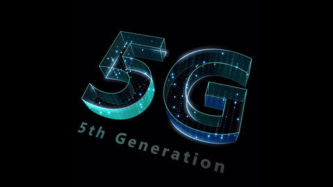 5G Digital Network technology 5th generation mobile communication concepts Background 0 N2 green 4k Animation