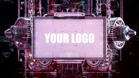 Mechanical Gear Screen Logo After Effects Template