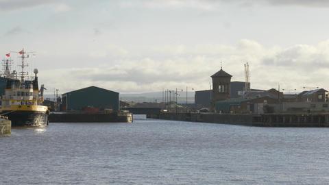 Edinburgh harbor at Ocean Terminal Leith Live Action