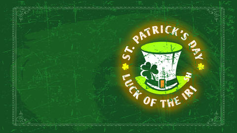 ireland symbolic holiday st patricks day example the fate of the whiskey forming round around Animation