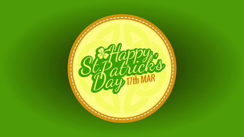 happy st patricks day themed beermat pointing date 17th march reminding to celebrate irish holiday Animation