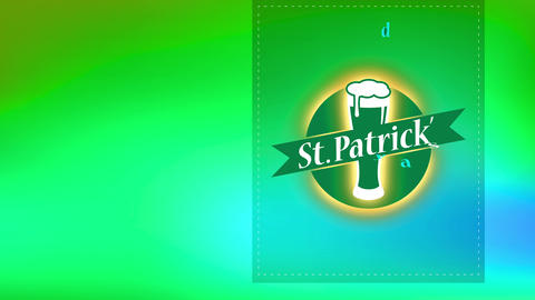 st patricks day brew presenting with splattered lines for trimming and brew glass flooding with foam Animation