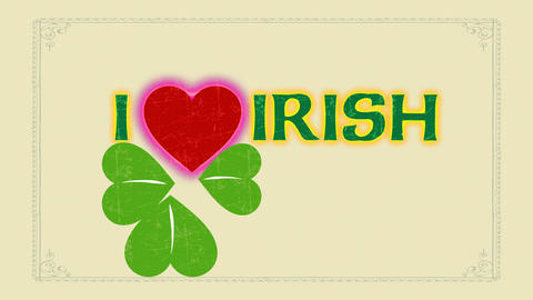 st patricks day publicity and holiday announcement with script i love english manipulation celtic Animation