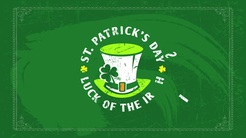 ireland emblematic holiday st patricks day quote the luck of the irish creating circle around Animation