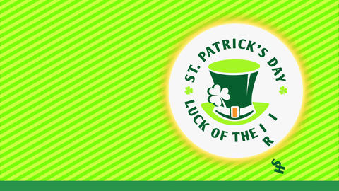 st patricks day advertisement towards promote whiskey vacation ritual with writing forming circle Animation